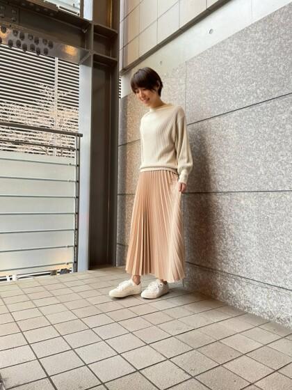 春色プリーツスカート