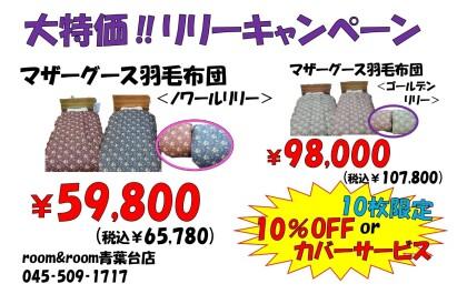 10枚限定‼マザーグース羽毛布団がお買い得‼