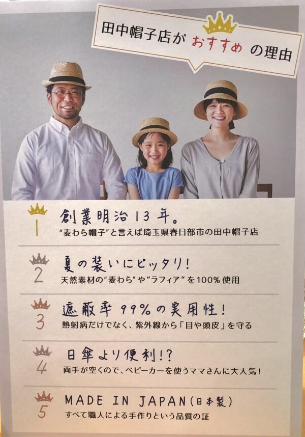 田中帽子店の素敵な麦わら帽子再び!