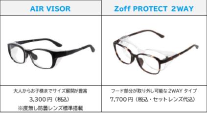花粉や飛沫対策にオススメのAIR VISOR、Zoff PROTECT 2WAY!