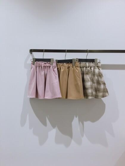 キッズ新作!インナーパンツ付きスカート