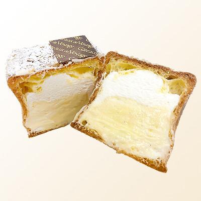 〈ガトー・ド・ボワイヤージュ〉レンガのようなシュークリーム