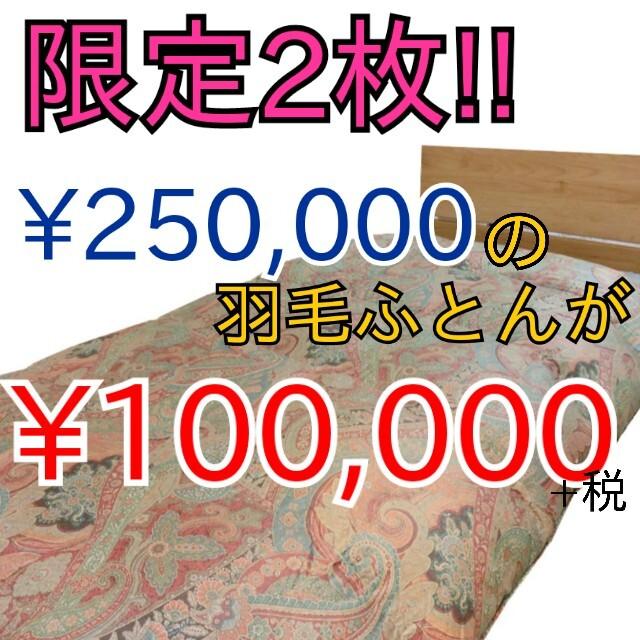 限定2枚‼¥250,000の羽毛ふとんが¥100,000+税⁉⁉